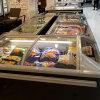自動セリウムの証明のスーパーマーケットの食糧キャビネットの箱のフリーザーの霜を取り除きなさい