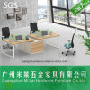 Mesa reta moderna da equipe de funcionários de escritório do projeto simples com tabela lateral