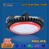 iluminação elevada do louro do UFO do diodo emissor de luz 120W com o excitador do diodo emissor de luz de Meanwell