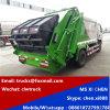 Gemaakt in China 3tons aan de Vuilnisauto van de Compressie 4tons LHD