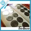 Circulaire estampant l'étiquette d'or faite sur commande à extrémité élevé de collants de processus