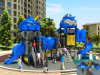 Kaiqi im Freienspielplatz der mittelgrosser kühler Roboter-themenorientierten Kinder (KQ50061B)