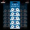 Célula alcalina duradera del botón de AG1 Lr621