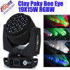 粘土Paky 19X15W Bee Eye DMX LED BeamおよびWash