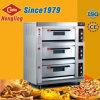 Horno comercial de la pizza del gas de las bandejas de la cubierta 6 de Hongling 3 para la venta