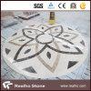 Modelo Waterjet de mármol de los medallones para el suelo del hotel