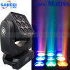 Lumière principale mobile du lavage 9PCS Matrix de LED