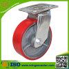 ruedas resistentes del echador del eslabón giratorio de la carretilla 6inch