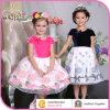La fleur a brodé les vêtements élégants de partie, robe de mode de filles 10 ans