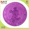 монетки знака внимания 24X1.85mm пурпуровые алюминиевые