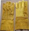 Ладонь Glove-9977 двойника кожи с сохранённым природным лицом коровы золота