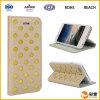 Caja de cuero del teléfono móvil de la carpeta con las ranuras para tarjeta para el LG