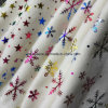 Kleurrijke Hete het Stempelen Polaire Vacht met Sneeuwvlok