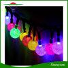 태양 에너지 5m 크리스마스 축제 당 결혼식 정원 훈장을%s 20 수정 구슬 LED 끈 요전같은 빛 방수 램프