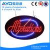 Muestra publicitaria brillante oval de Hidly alta LED