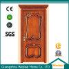 Personnaliser la porte en bois en bois solide de placage des forces de défense principale HDF de porte de qualité