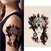 Tribal chica del brazo del cuerpo de la pierna etiqueta impermeable tatuaje temporal