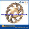 소결된 컵 터보 세그먼트 Polished 돌 구체적인 다이아몬드 회전 숫돌