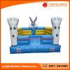 ウサギの主題の警備員の遊園地(T1302)のための膨脹可能な跳ね上がりの家