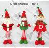 16  H che si levano in piedi la decorazione del pupazzo di neve Elf-3asst-Christmas della Santa