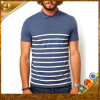 공장 Hot Selling Cheapest High Quality Striped 100%Cotton Pique Men Polo Shirt