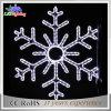 Lumière blanche de flocon de neige de corde de motif de décoration de Noël des vacances DEL