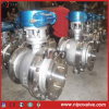 Acier inoxydable CF8 Flanged Tourillon Ball Valve