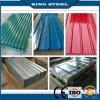 Hoja de acero acanalada galvanizada cubierta color del material para techos de Dx51d Z120 PPGI