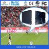 Diodo emissor de luz ao ar livre do vídeo do estádio de futebol que anuncia a tela