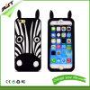 Caja del teléfono celular del iPhone 4/4s de la cebra del silicio del surtidor de China (RJT-0166)
