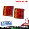 Indicatore luminoso EL208 del rimorchio del camion dell'indicatore del freno di arresto della coda del LED
