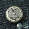Тавро износа джинсыов способа изготовленный на заказ щелкает кнопку