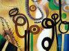 Het in het groot Olieverfschilderij van Abstract Canvas voor Home Decoration (links-277000)