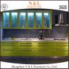 Gabinetes de cozinha de madeira do PVC da madeira contínua da laca do projeto modular de N&L