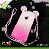 Caja del teléfono celular del brillo TPU de Bling de la historieta para el iPhone (RJT-A009)