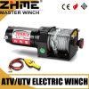 torno eléctrico de poca potencia de 12V UTV 3000lbs con la cuerda de alambre
