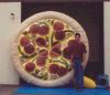 Heißer Verkauf, der aufblasbare Pizza für im Freiendekoration bekanntmacht