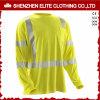 Camisa reflexiva do desgaste longo amarelo T da segurança da luva (ELTSPSI-24)