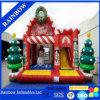 Weihnachtsschlag-Haus-kombiniertes aufblasbares Weihnachtsspringender Prahler mit Plättchen