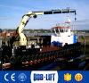 Grúa hidráulica de la elevación del brazo del oscilación del suelo para el barco