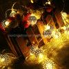 Phares fonctionnant à piles Argent Métal décoratif Lattice Maroq Lantern Globe Cordes