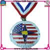 賞メダルのための印刷のリボンが付いている予約された金属メダル