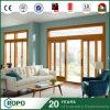 Portello scorrevole di colore di legno residenziale del PVC del portello del patio della prova della tempesta