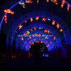 Im Freienweihnachtsdekoration-Licht eindeutiges RGB-Zeichenkette-Licht