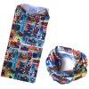 Il fornitore della fabbrica della Cina ha personalizzato il Bandana UV magico di Necktubes di protezione del poliestere stampato fumetto di marchio