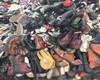 Verwendete eingebrannte Schuhe lederne Schuhe gut sortiert