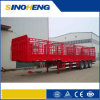 Goosneck를 가진 제조자 60tons 3 차축 Fence Cargo Semi Trailer