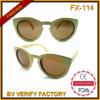 Óculos de sol do bambu da qualidade da forma Fx-114 bonito os melhores