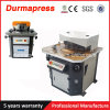 Justierbares hydraulisches Metallaufbereitende Maschine des Winkel-4*200
