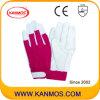 Spandex Регулируемые манжеты промышленной безопасности Свинья зерна кожаные перчатки работы (22006)